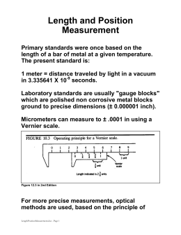 Length and Position Measurement