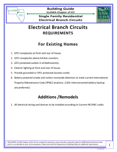 Electrical Branch Circuits