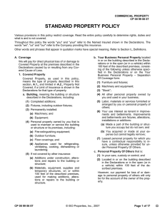 standard property policy - NMPIP, the NM FAIR Plan