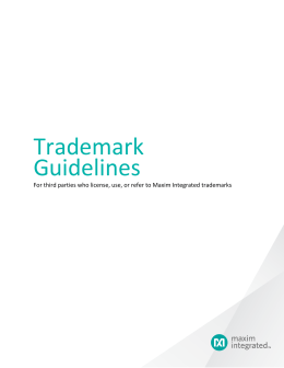Terms and Conditions of Use - Trademark Guidelines