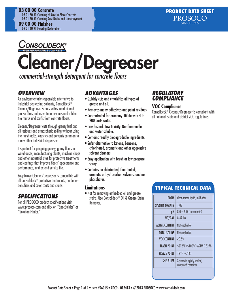 Cleaner Degreaser