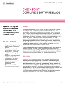 Compliance Software Blade