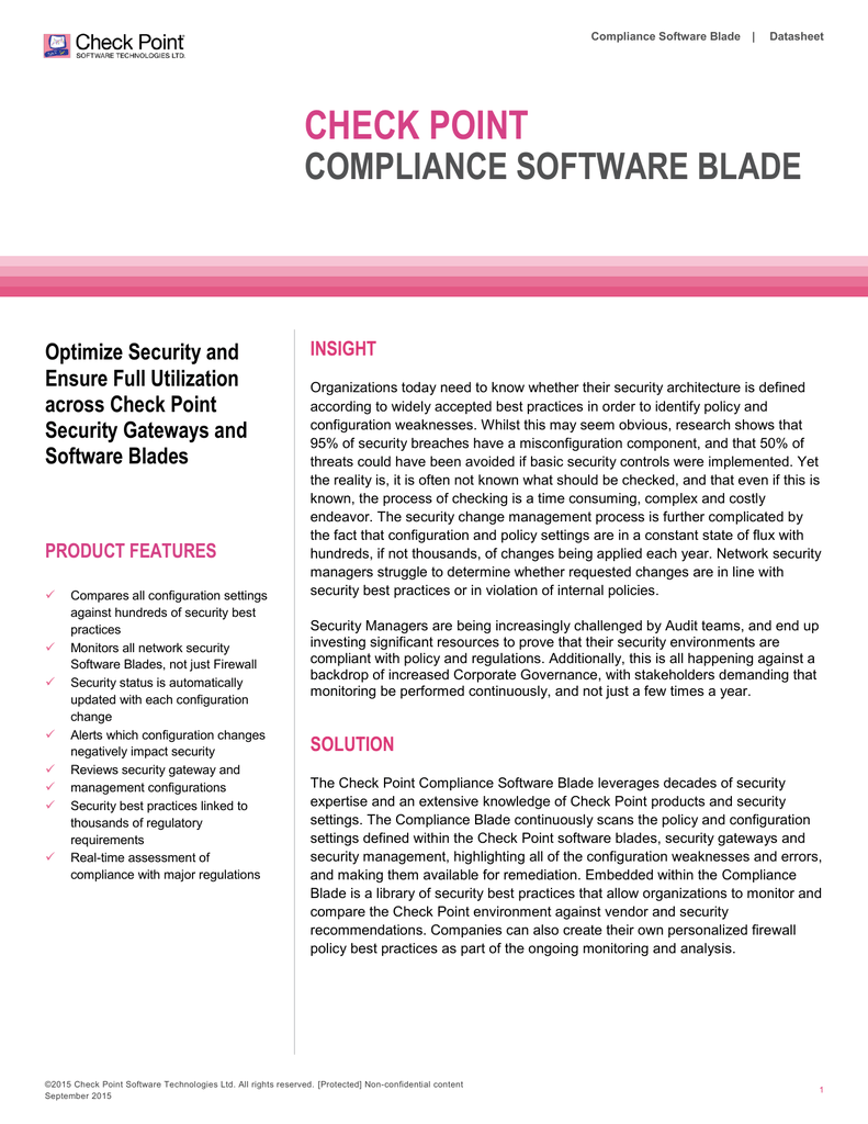 Compliance Software Blade