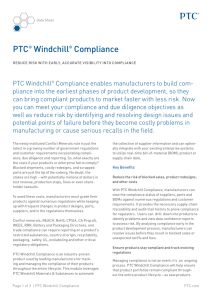 PTC® Windchill® Compliance