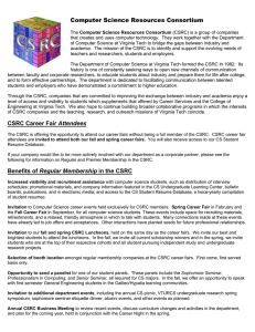 Computer Science Resources Consortium CSRC Career Fair