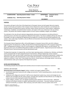 Human Resources POSITION DESCRIPTION (HR 120