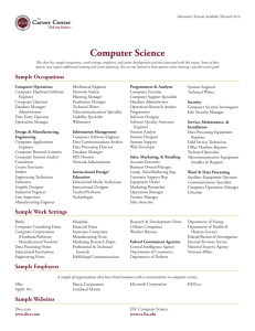 Computer Science - The Career Center