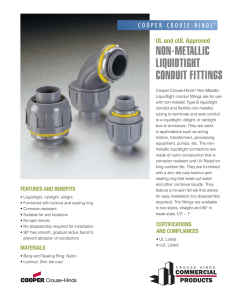 non-metallic liquidtight conduit fittings