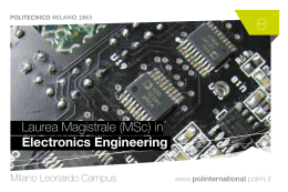 Laurea Magistrale (MSc) in Electronics Engineering