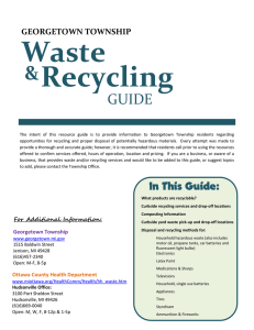 Recycling and Hazardous Waste Guide - Georgetown, MI