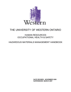 Hazardous Materials Management Handbook