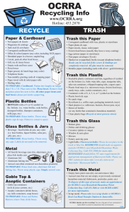 OCRRA Recycling Brochure