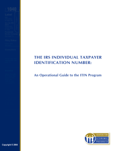 the irs individual taxpayer identification number