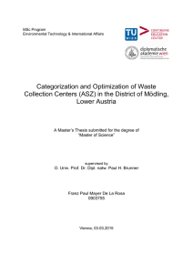 Categorization and Optimization of Waste Collection Centers (ASZ