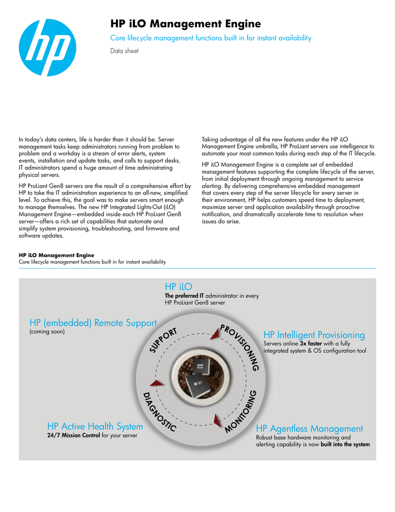 HP iLO Management Engine - Data sheet (US