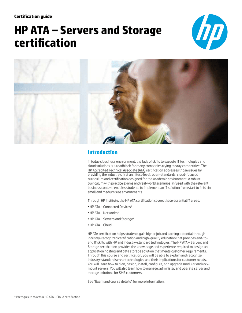 Hp Ata Servers And Storage Certification