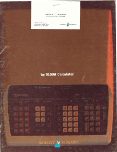 hp 9100A Calculator, 1968 - Computer History Museum