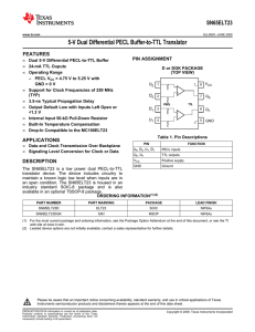 5-V Dual Differential PECL Buffer-to-TTL