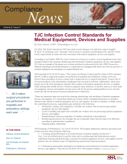 TJC Infection Control Standards for Medical Equipment