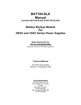BAT104-SLA Manual