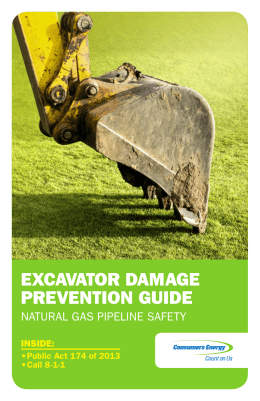 EXCAVATOR DAMAGE PREVENTION GUIDE