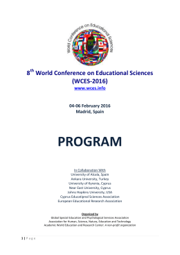 wces 2016 draft programme