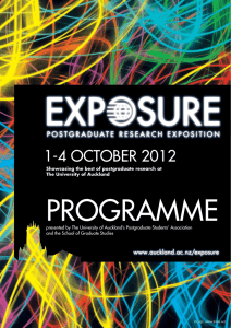 1-4 october 2012 - The University of Auckland