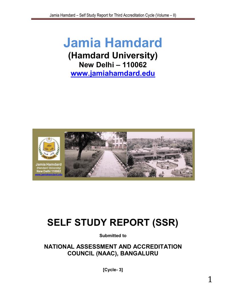 SSR Volume II - Jamia Hamdard