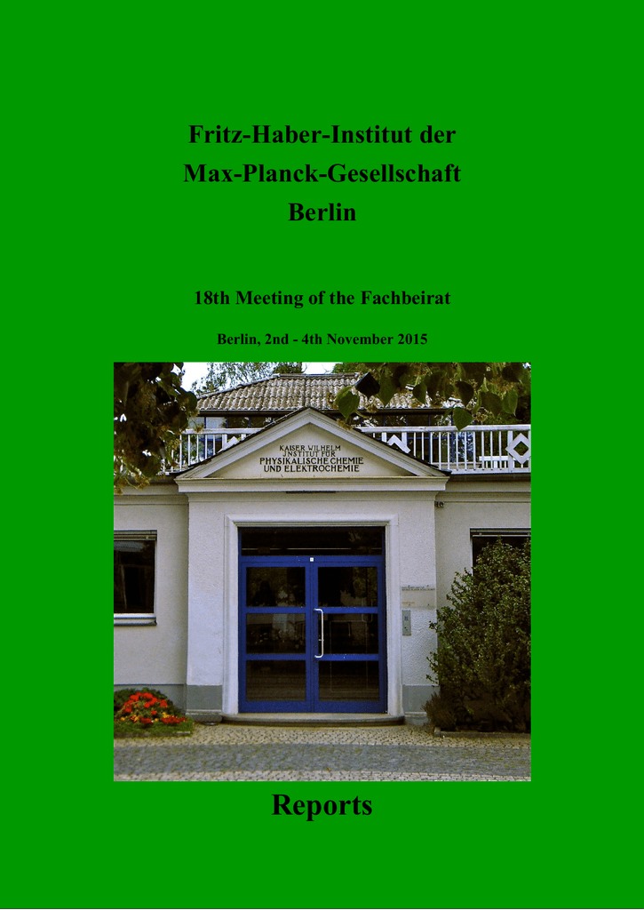Reports - Max-Planck