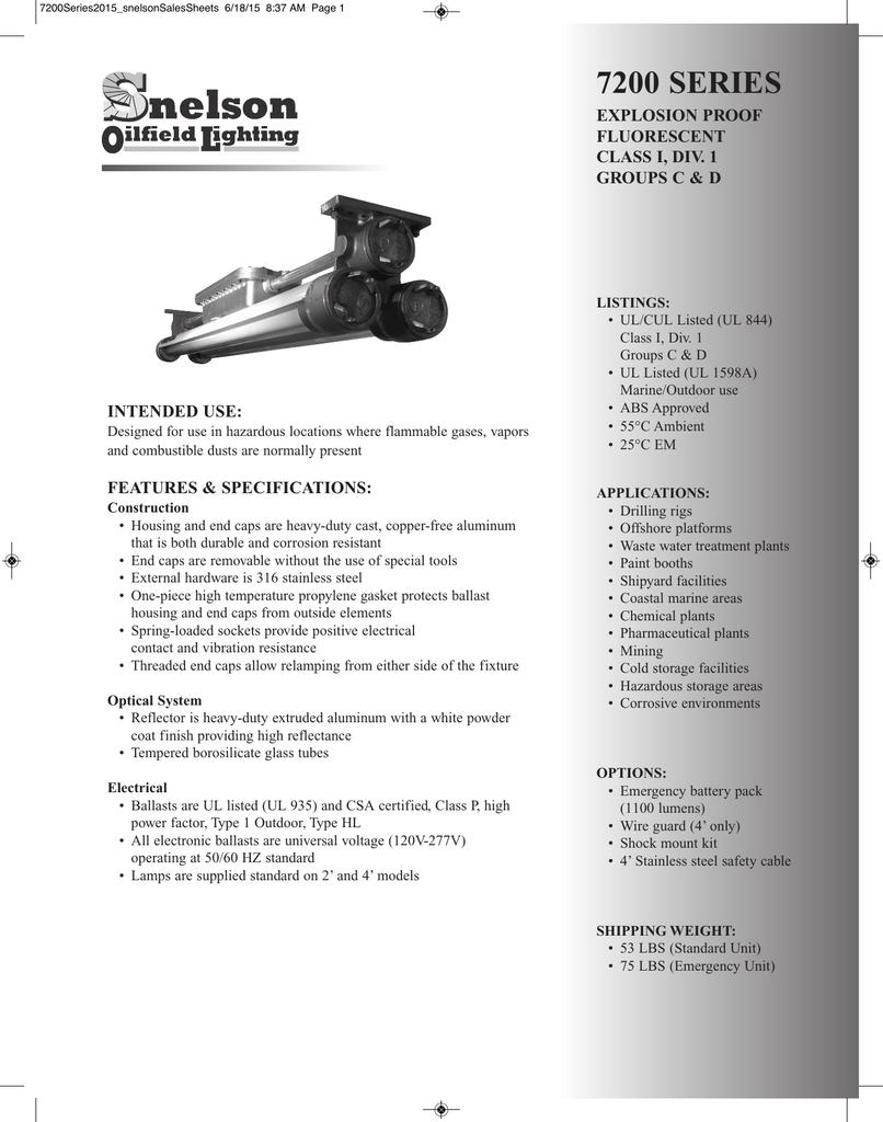 7200 PDF - Snelson Oilfield Lighting