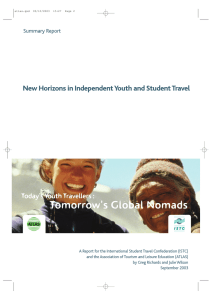 New Horizons in Independent Youth and Student Travel