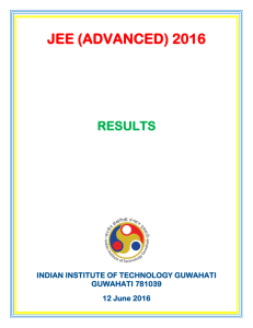 JEE (ADVANCED) 2016