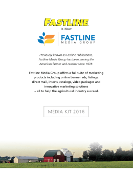 Fastline Media Group Media Kit