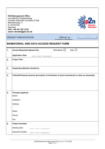 Biomaterial Access Request Form P2N