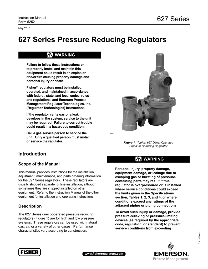 627 Series Pressure Reducing Regulators