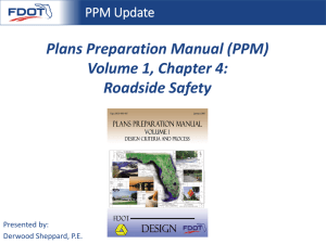 Plans Preparation Manual (PPM) Volume 1, Chapter 4: Roadside