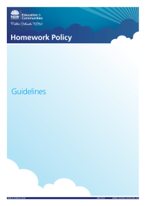 Homework Policy Guidelines - NSW Department of Education