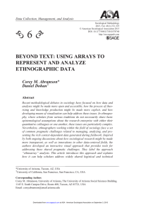 Beyond Text: Using Arrays to Represent and Analyze Ethnographic