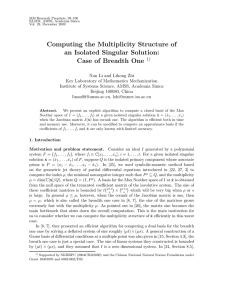 Computing the Multiplicity Structure of an Isolated Singular Solution