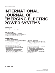 INTERNATIONAL JOURNAL OF EMERGING ELECTRIC POWER
