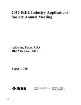 2015 IEEE Industry Applications Society Annual