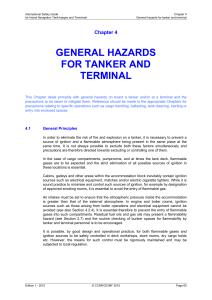 general hazards for tanker and terminal