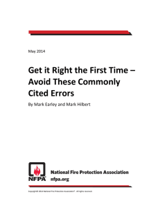 Get it Right the First Time – Avoid These Commonly Cited