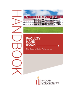 Faculty Hand Book - Indus University