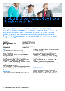 Product Engineer Insulated-Gate Bipolar Transistor Assembly