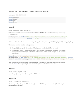 Errata for `Automated Data Collection with R` page 2 page 35 page