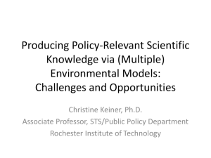 (Multiple) Environmental Models - Chesapeake Research Consortium
