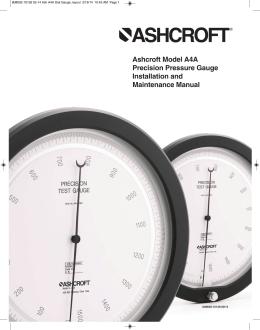 Manual A4A Precision Pressure Gauge
