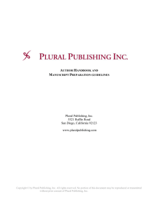 PLURAL PUBLISHING INC