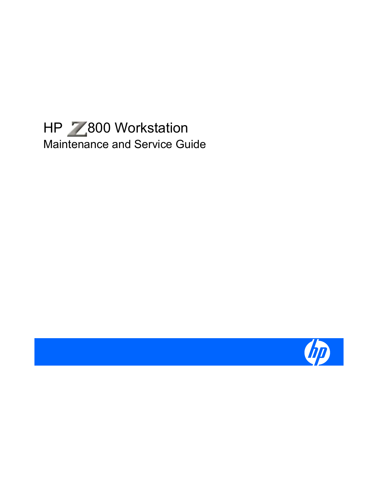 hp z800 workstation maintenance and service guide rh studylib net HP Z800 hp z800 maintenance and service guide